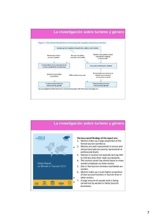 La investigación sobre turismo y géneroLa investigación sobre turismo y género            The key overall findings ...