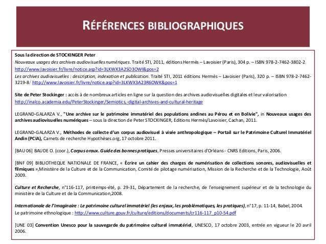 Sous la direction de STOCKINGER Peter Nouveaux usages des archives audiovisuelles numériques. Traité STI, 2011, éditions H...