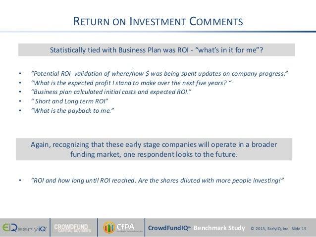 CrowdfundIQ Benchmark Study - Equity Crowdfunding Investor ...