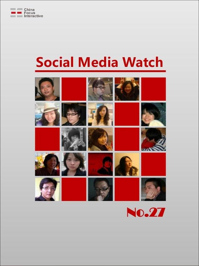 Social Media Watch No.27