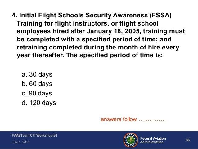 Cfi Workshop Module 4 Transportation Security Administration