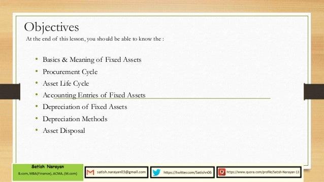 fixed asset depreciation