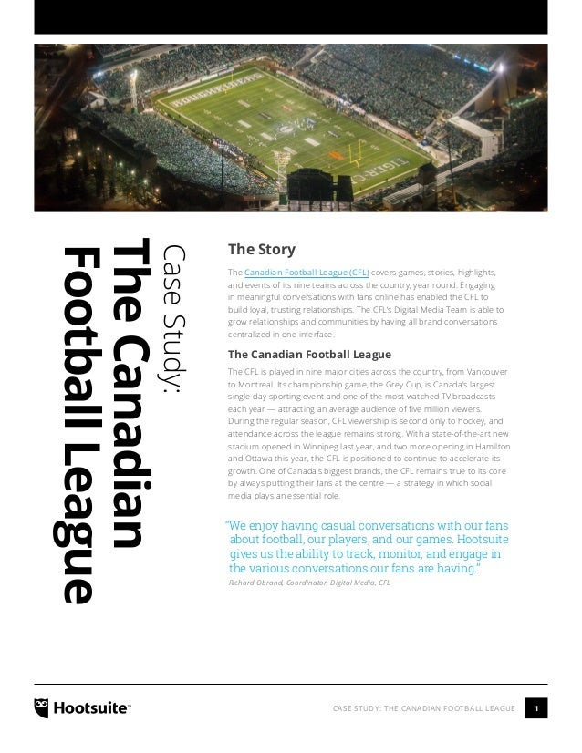 The Canadian Football League Case Study