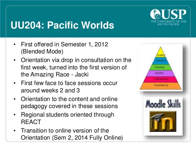 Why Orientation so important for  Online students  • Ease the transition from a  face-to-face mode to an  online mode  • N...