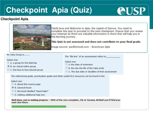 Checkpoint Tarawa (Forum) &  Nukualofa (Assignment Drop  Box)