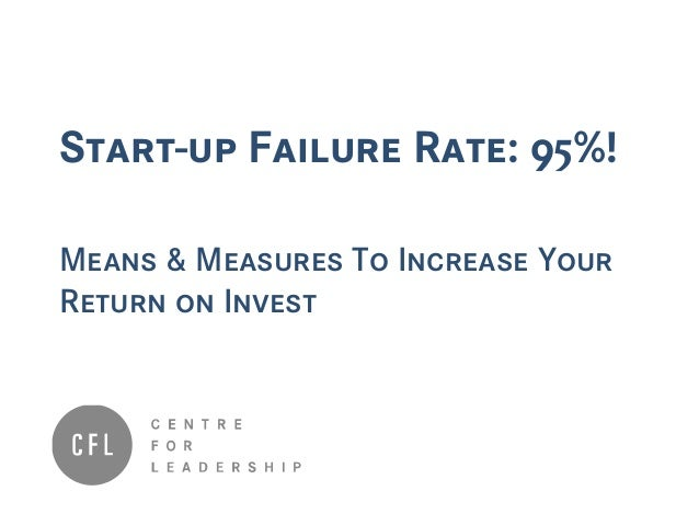 Start-up Failure Rate: 95%! Means & Measures To Increase Your Return on Invest