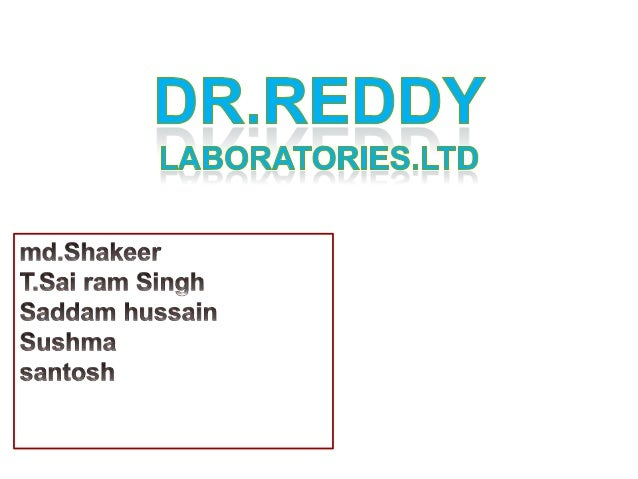 financial outlook on dr reddys laboratories