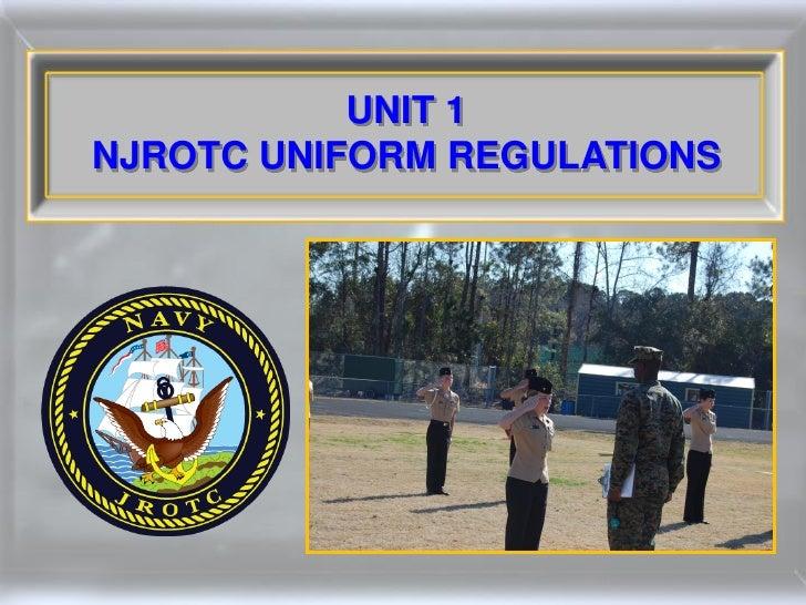 UNIT 1NJROTC UNIFORM REGULATIONS