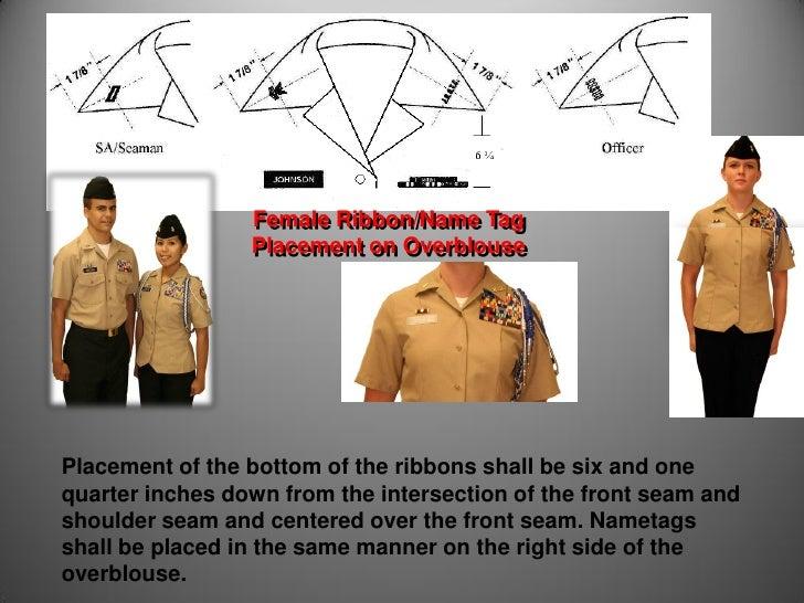 Navy nsu rank placement on dress