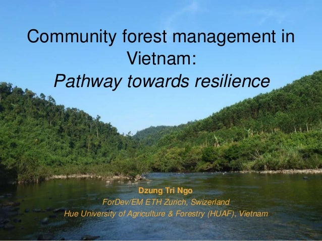 Community forest management in Vietnam: Pathway towards resilience Dzung Tri Ngo ForDev/EM ETH Zurich, Swizerland Hue Univ...