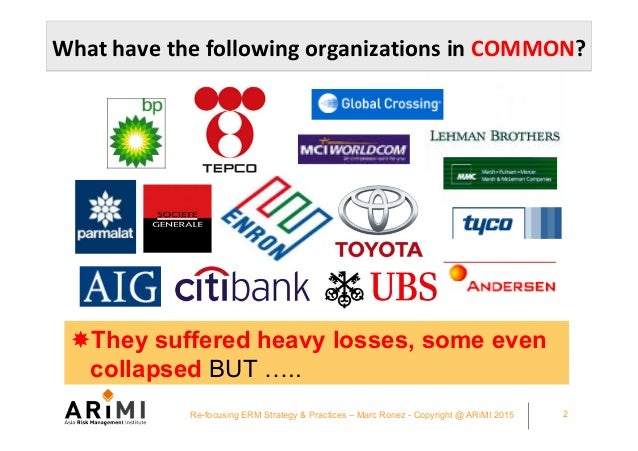 CFO Asia Exchange Singapore 2015 Refocusing your ERM strategy and practices - Marc Ronez presentation Slide 2