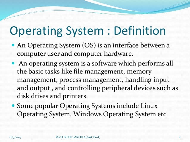 dos operating system definition