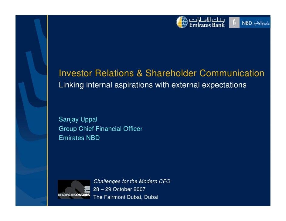 Investor Relations & Sh h ld C I        R l i       Shareholder Communication                                        i i L...