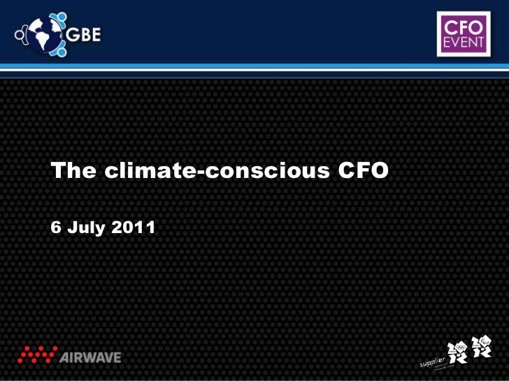 The climate-conscious CFO<br />6 July 2011<br />