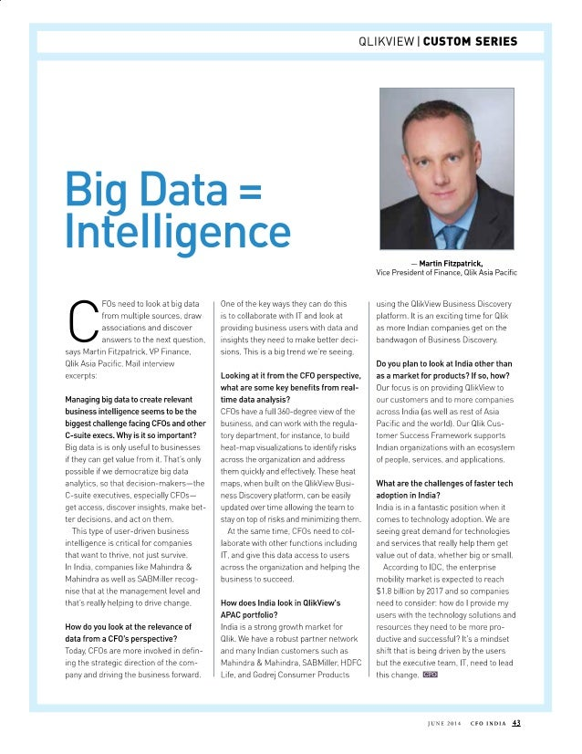 Big Data = Intelligence
