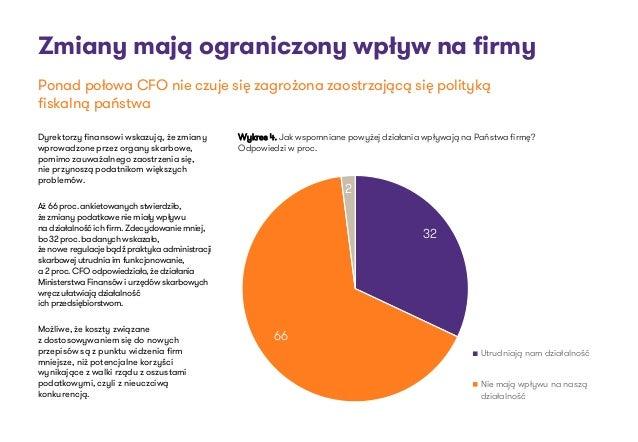 Zmiany mają ograniczony wpływ na firmy Dyrektorzy finansowi wskazują, że zmiany wprowadzone przez organy skarbowe, pomimo ...