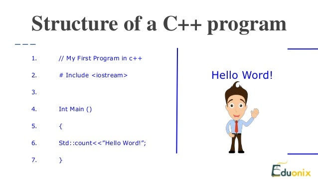 tips for writing a program in c++
