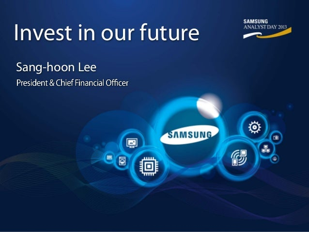 Invest in our future Sang-hoon Lee