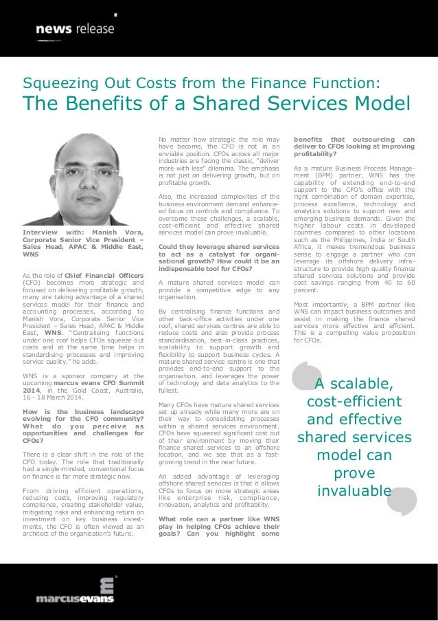 Squeezing Out Costs from the Finance Function:  The Benefits of a Shared Services Model No matter how strategic the role m...