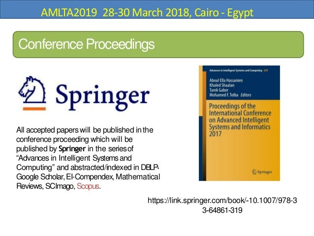 CFP: Advanced Machine Learning 28-30 March Cairo, Egypt