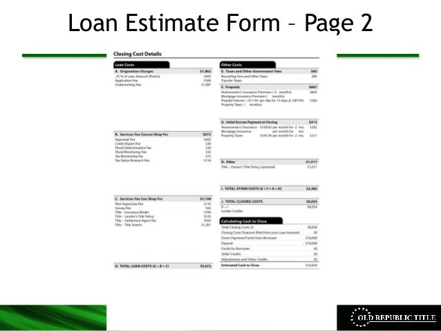 Cfpb Integrated Mortgage Disclosure Presentation By Orntic