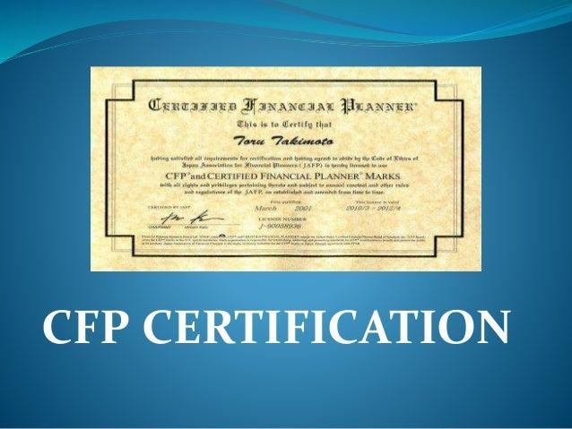 cfp certification slideshare