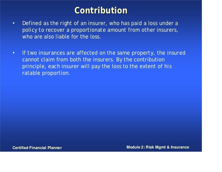 principle of contribution definition