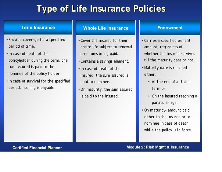 Whole Life Insurance Policy Quotes Classy Endowment Life Insurance Quote  Raipurnews