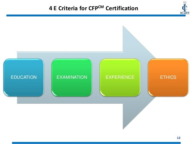 how to get a financial planner certification