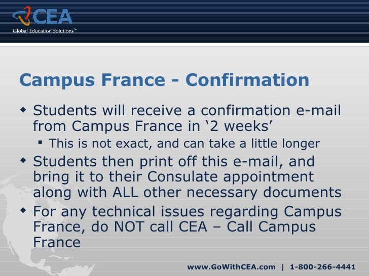CEA French Student Visa for Study Abroad France