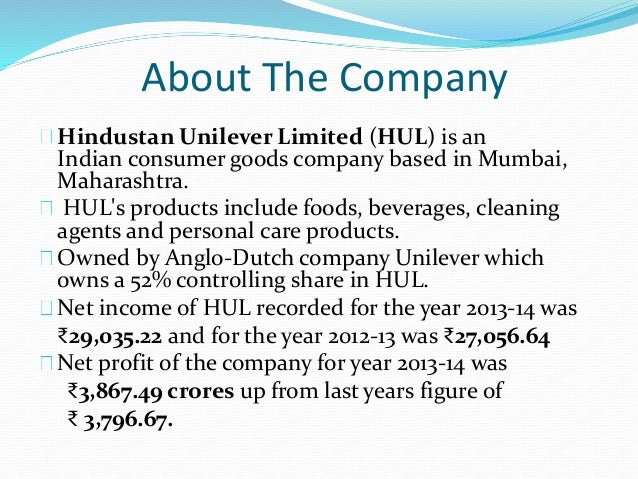 Hindustan Unilever Ltd. Company Cash Flow Statement & Analysis