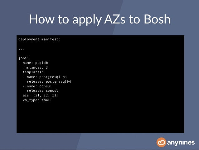 Delivering a production cloud foundry environment with bosh for Openstack consul