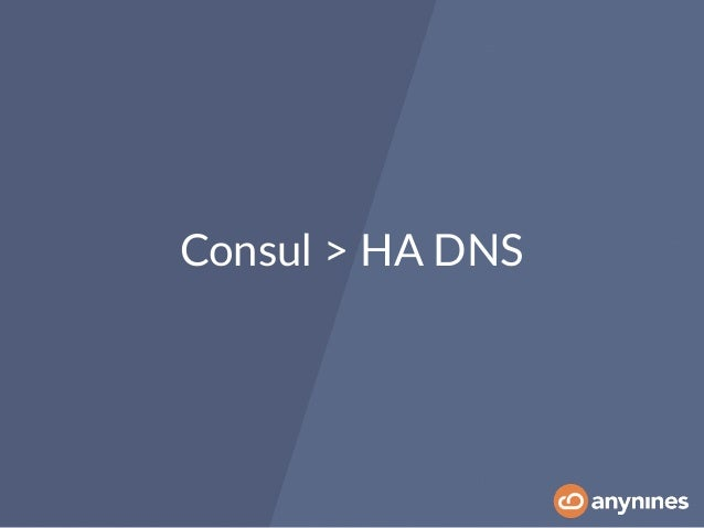 Delivering a production cloud foundry environment with bosh for Consul dns service
