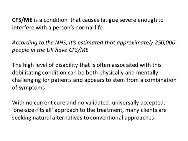 Managing CFS/ME: a clinical approach Slide 2