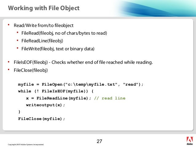 Cffile write append