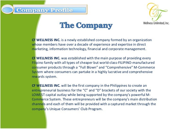 Cf Wellness Company Profile Presentation