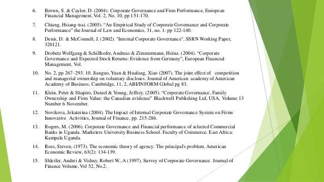 Corporate governance agency theory essay