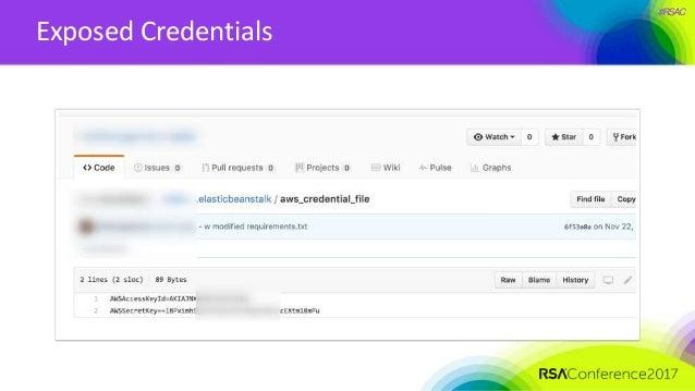 #RSAC Exposed Credentials
