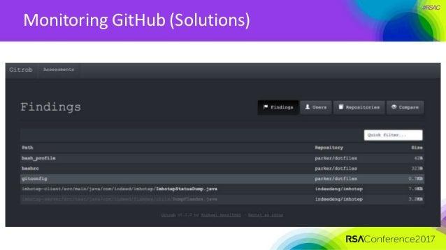 #RSAC Monitoring GitHub (Solutions)