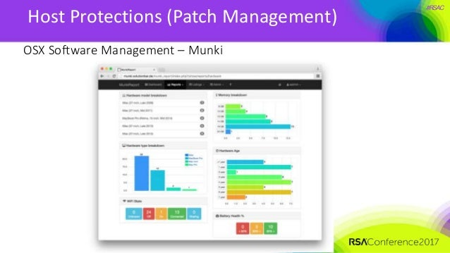 #RSAC Host Protections (Patch Management) OSX Software Management – Munki