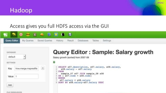 #RSAC Hadoop Access gives you full HDFS access via the GUI