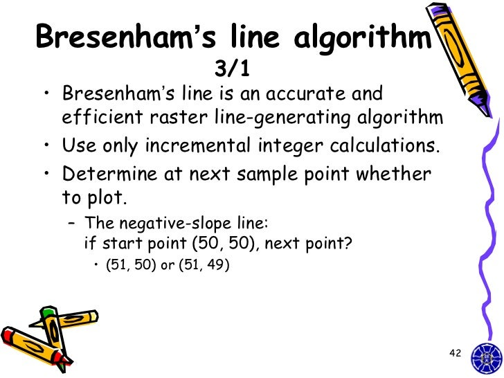 Bresenham Line Drawing Algorithm Negative Slope : Cg simple opengl point line course