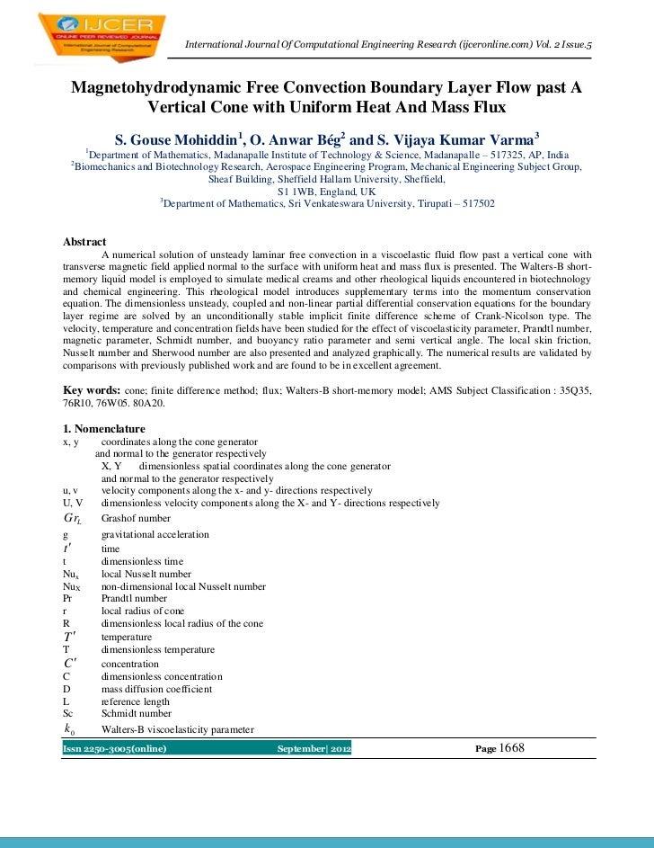 International Journal Of Computational Engineering Research (ijceronline.com) Vol. 2 Issue.5    Magnetohydrodynamic Free C...
