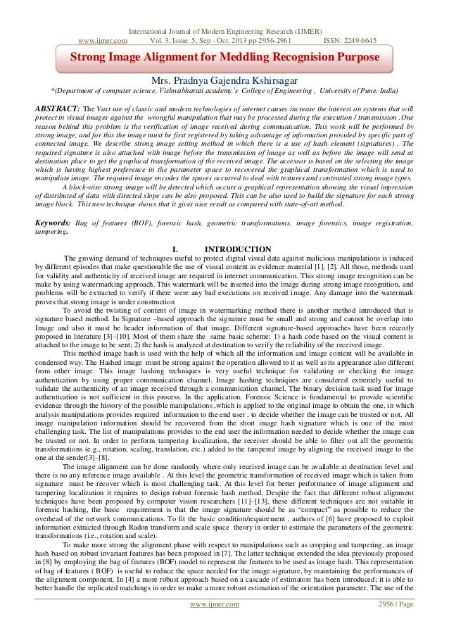 www.ijmer.com  International Journal of Modern Engineering Research (IJMER) Vol. 3, Issue. 5, Sep - Oct. 2013 pp-2956-2961...