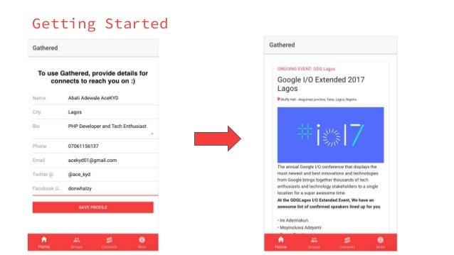 Gathered App Demo Slides Slide 3