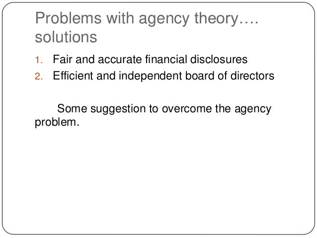 how to overcome agency problem