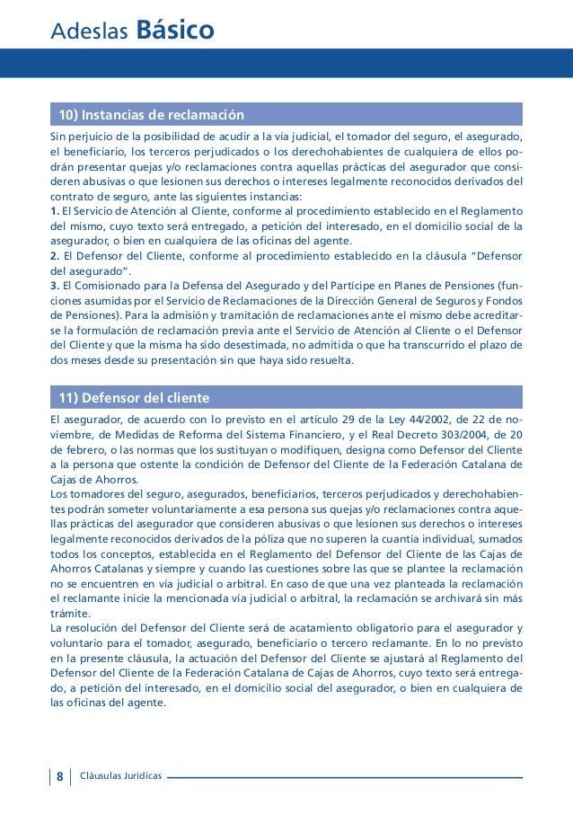 Condiciones generales adeslas b sico tu oficina local coslada for Oficinas de adeslas en barcelona