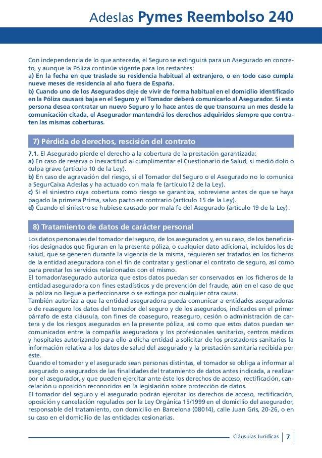 Condiciones generales adeslas pymes reembolso 240 tu oficina local c - Oficinas de adeslas en madrid ...