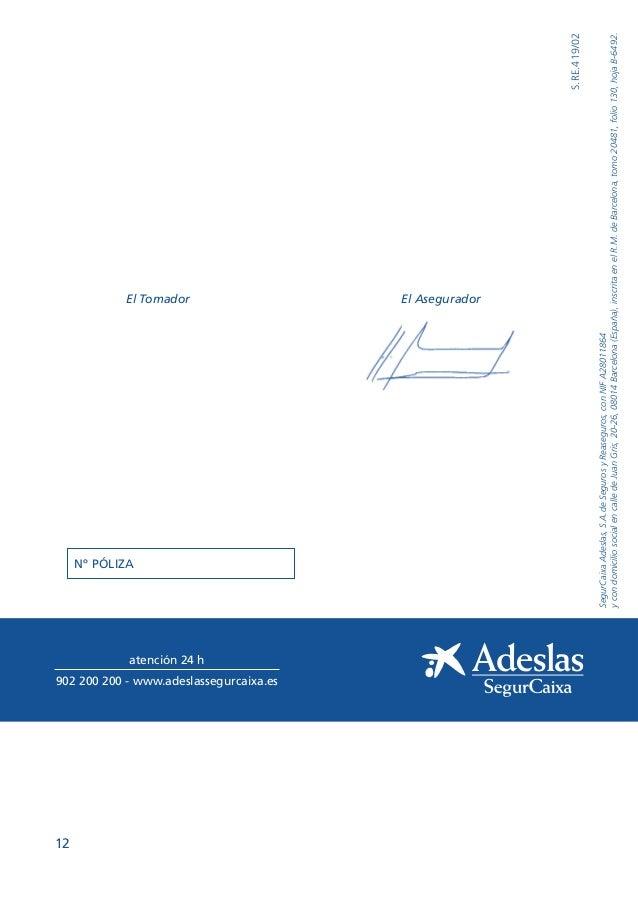 Condiciones generales adeslas pymes reembolso tu oficina for Oficina correos coslada