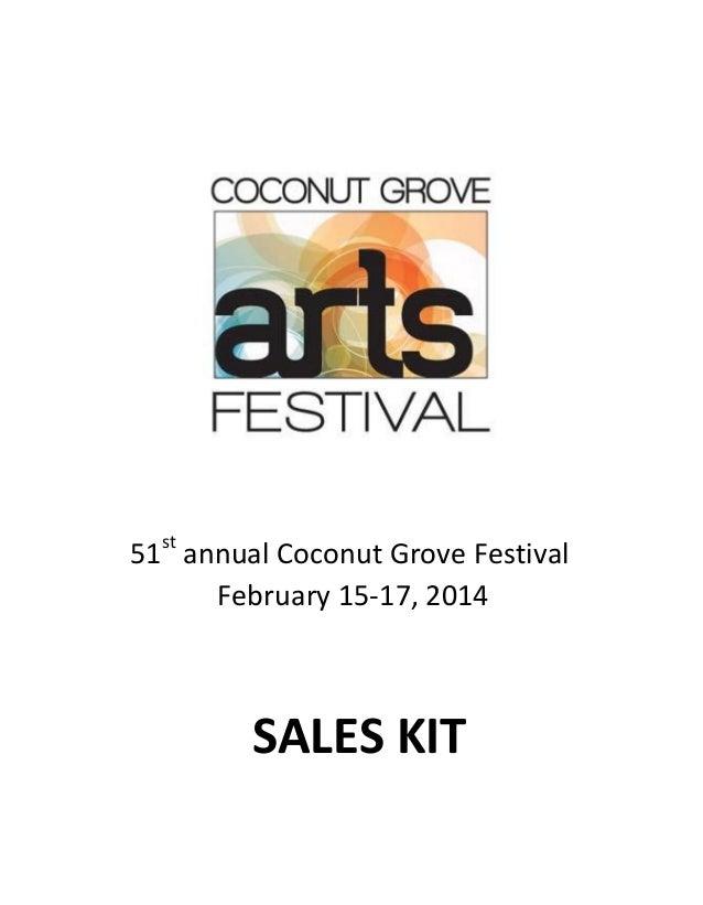 st  51 annual Coconut Grove Festival February 15-17, 2014  SALES KIT